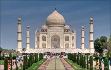 De Taj Mahal - vooraanzicht