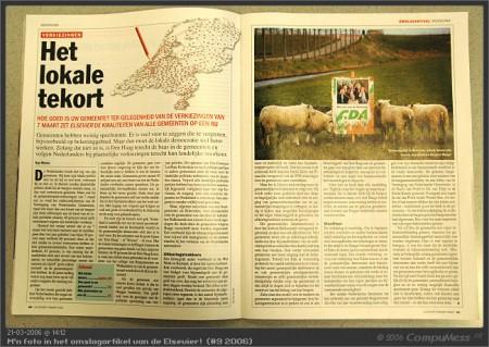 Gemeenteraadsverkiezingen 2006 - M'n foto in Elseviers weekblad