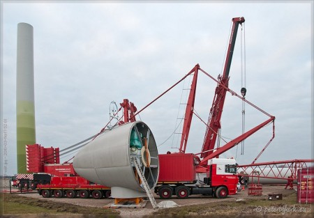 Opbouw windgenerator Boekelermeer