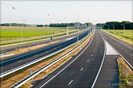 Nagenoeg lege snelwegen tijdens WK finale Nederland-Spanje.