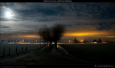Natural versus artificial lighting